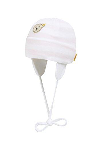 Steiff Unisex - Baby Mütze 0002850 Mütze Gr. 39 Cm Kopfumfang, Gestreift, Gr. 39 (Herstellergröße: 39), Rosa (Barely Pink 2560)