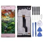 NeitKaarsh India LCD Screen and Digitizer Full Assembly with Frame for Sony Xperia XA1 G3112 G3116 G3121(Pink)
