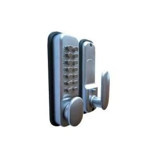 Digital Code Lock Door Lock - Chrome - Weather Resistant KeyPad Combination Key Coded Button Lock