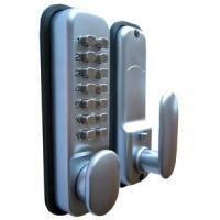 HomeSecure - Cerradura digital codificada con botón de bloqueo, resis