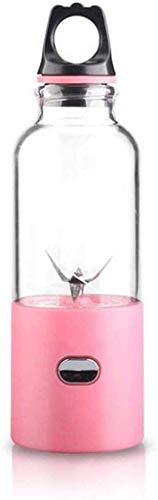 8bayfa Tragbare Eletric Juicer Cup, Personal USB aufladbare Blender mit Leicht abnehmbare Blender, Obst, Smoothie, Babynahrung Mischmaschine mit 6 Klingen, B (Color : A)