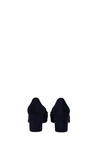 5I570ABLEU Miu Miu Talon Femme Chamois Bleu Bleu