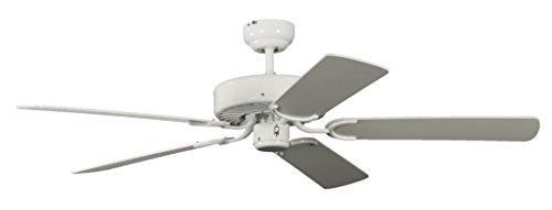 Pepeo Potkuri ventilador de techo sin luz, carcasa en blanco lacado, aspas...