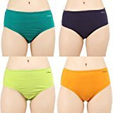 #7: Clifton Womens panties Pack Of 4 -Green Apple -Ink Blue-Lime Green-Mango