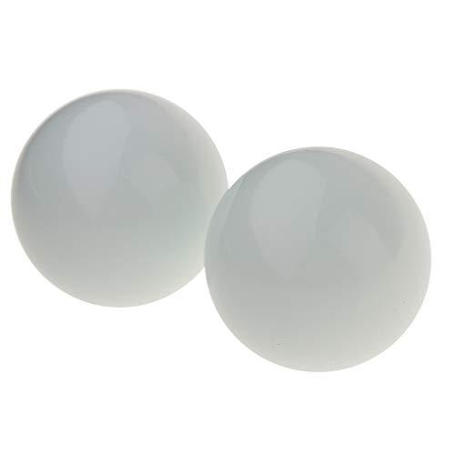KESOTO 2X 40mm Glasmurmeln Glaskugel Glasperlen, geeignet für Ornament DIY und Sammeln (Klare Ornamente Glaskugel Kleine)