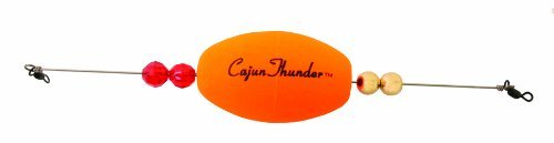 Precision Tackle 15405 Cajun Thunder Oval, 2.5-Inch, Weighted Sunglo by Precision Tackle Oval Thunder