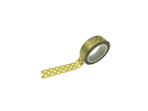 10m * 1.5cm DIY Einseitige Gold-Washi Papier Bandrolle für Geschenkverpackung Crafts Scrapbooking Hochzeit Bevorzugungen, gt07