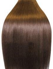 Clip-In-Extensions für komplette Haarverlängerung - hochwertiges Remy-Echthaar - 100 g - 45 cm - Hellbraun - 8