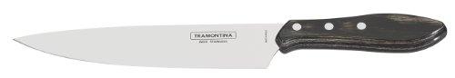 Tramontina, 21189/198, Coltello da carne, ca. 20 cm, manico con tripla chiodatura, Marrone (Braun)