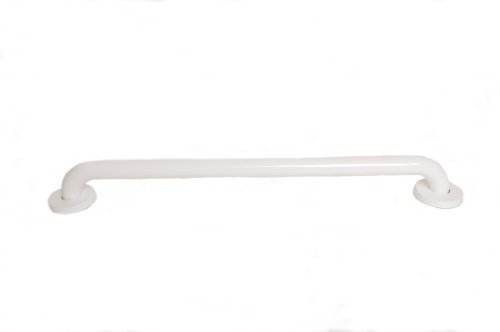 CSI Bathware BAR-SB42-TW-125-PW Stainless Steel 42-Inch Grab Bar, Straight Safety Bar, Concealed Flanges, White Powder-Coated Finish by CSI Bathware