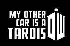 DW My Anderen KFZ-ist Ein Tardis Doctor Who Inspiriert Vinyl Aufkleber Sticker|White| Autos Trucks Vans SUV Laptops Wand Art|5.5'x 13,3cm |cgs531