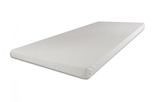 SW Bedding H2 Topper Matratzenauflage Kaltschaum 140x200 x 7 cm Bezug Medicare Boxspringbett Auflage - 30 Tage Probeschlafen