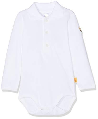 Gestickte Kragen Body (Steiff Baby-Jungen Formender Body 1/1 Arm, Weiß (Bright White 1000), 68)
