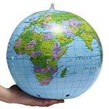 Gifts 4 All Occasions Limited SHATCHI-444 - Globo terráqueo hinchable para profesor (38 cm, 15 unidades), diseño de mapa de la Tierra, color azul y verde