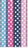 4 x Rolls Of Gift Wrap Wrapping Paper 3M x 70cm Polka Dot Spotty 12990-GW by Gift Maker