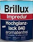 2,5 Liter Brillux Impredur Hochglanzlack 840 aromatenfrei Ral 8011 nussbraun