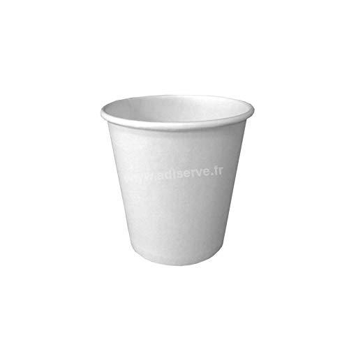 50 Gobelet jetable Eco en carton Blanc 24 cl