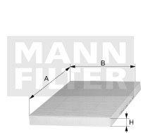 MANN-FILTER Innenraumfilter Pollenfilter (Ps 15 Ac-motor)