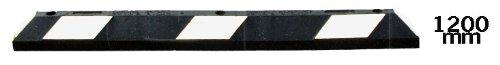 Preisvergleich Produktbild UvV® ParkIT Parkplatzbegrenzung 120 x 15 x 10 cm schwarz -weiß reflektierend- aus Gummi