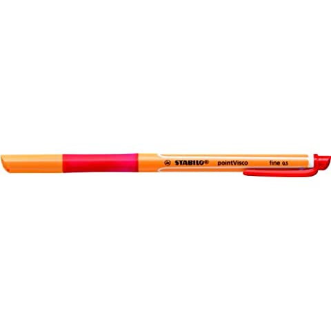 Stabilo 1099/40 PointVisco Penna Roller Gel, Rosso