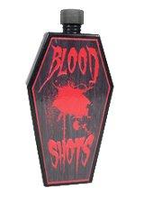 Vampir Flachmann Flasche in Sargform mit Drehverschluss perfekt für Halloween Horror Shooter für Bloody Mary, Schnaps Zombie (Vampire Zombie-kostüme)