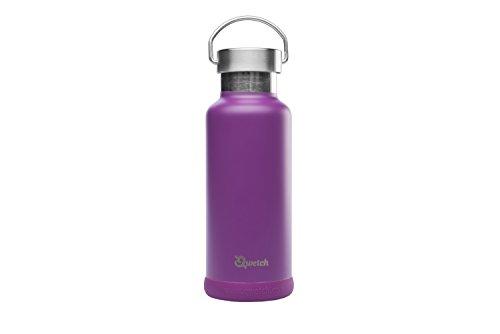 Qwetch–Travel Topf Thermoskanne aus Edelstahl–500ml, Pourpre, 500 ml