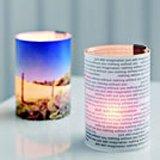 men-u Bild Windlicht, Glas, Edelstahl, Kunststoff, für 2 Fotos