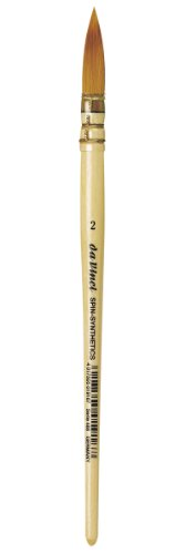 da Vinci Watercolor Series 1280 CosmoTop Spin Pinsel rund, gesteppt Size 2 braun (2 Brush Runde Hair)