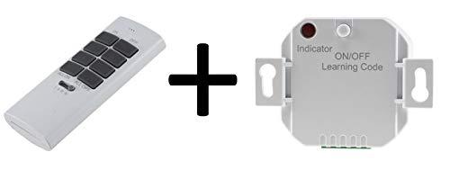 Funk-Schalter Set Pilota Casa Funk-Empfänger mit Fernbedienung 230V Universal einsetzbar LED bis 300 Watt Bis 70m Reichweite