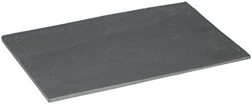 heimtexshop24 Schiefer Servierplatte Serviertablett Serviergeschirr Vorspeisenplatte Servierteller 30cm x 20cm (2 Servierplatten)