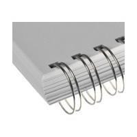 RENZ Drahtkamm-Bindeelemente 12,7 mm silber (1 Pack = 100 Stück)
