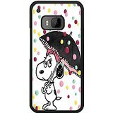 HTC One M9 Phone Cover Shell Fashionable Dots witn Umberlla Peanuts Snoopy Cartoon Phone Case Cover for HTC One M9 by Still Cover