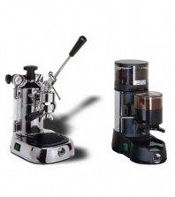 La Pavoni Chrome Combo set 7: Handhebel Espressomaschine La Pavoni Professional PL und La Pavoni Kaffemühle JDL