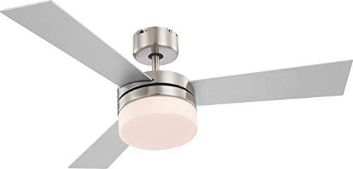 Deckenventilator Ventilator Fernbedienung Beleuchtung Deckenlampe Globo Alana 0333 - Helles Deckenventilator Licht