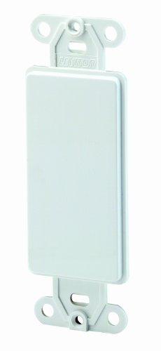 Leviton Decora Kunststoff Adapter Teller blanko-ohne Loch with-ears und zwei Befestigungsschrauben 1 Pack weiß Leviton Faceplates