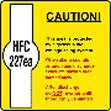 Caution this area is protected by a gaseous fire extinguishing system self adhesive label.