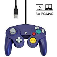 mekela 5.8 Feet Classic USB Wired NGC Controller Gamepad ähnelt Gamecube für Windows PC MAC (USB Purple2) (Xp Betriebssystem-disc Windows)