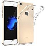EasyAcc iPhone 8 / iPhone 7 Custodia, [Funziona la ricarica wireless] morbido TPU Custodia Cover Cristallo limpido trasparente Slim anti scivolo custodia protezione posteriore Cover antiurto per iPhone 8 / iPhone 7
