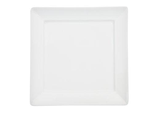 CAC China Porzellan-Teller, französischer Stil, quadratisch, Weiß Dünner, quadratischer Teller, 36 Stück 9-Inch Bone white - China Teller, Quadratische Weiße