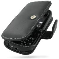 Palm Treo Pro (PDair Handarbeit Leder Hülle - Leather Book Case for Palm Treo Pro (Black))