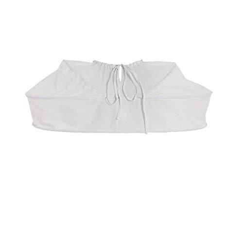 Cosplayitem Damen Petticoat Unterrock Kurz für Rokoko Kleid Blume Mittelalterliche Viktorianischen Kleid Weiß (One Size, Weiß Kurz)