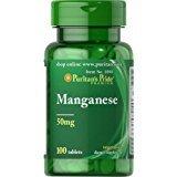Puritan's Pride Manganese 50 mg 100 Tablets 1090