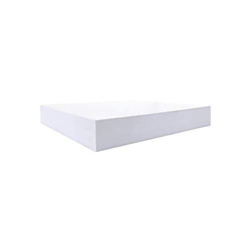 Rebecca mobili set 2 mensole quadrate bianche, scaffali a parete moderni, in legno, cameretaa salotto - misure: 3,8 x 25 x 25 cm (hxlxp) - art. re6063