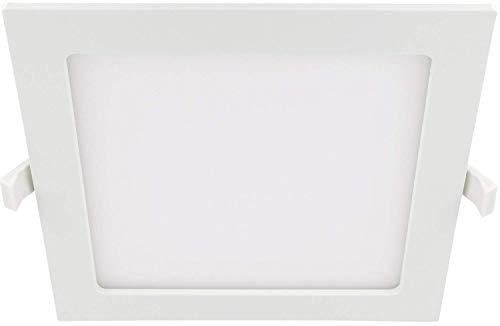 LED 18W Slim Einbaustrahler IP44 230V eckig - Trafo integriert - 1450lm - 220x220mm - 32mm flach - 110° - tagesweiß (4000 K) - 18w Led Leuchte