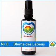 Feinstoffliche & energetische Lichtessenz Nr. 8 Blume des Lebens von Sonnenherz - Aura Spray, informierte Auraessenz