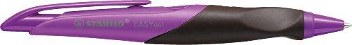 STABILO EASYgel links lila/braun - ergonomischer Gelschreiber mit Druckmechanik