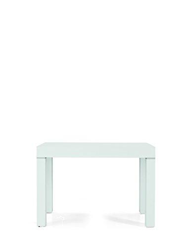 Fashion commerce tavolo legno nobilitato moderno allungabile consolle bianco frassinato 90x50-90x300