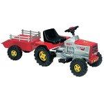 Traktor mit 6V Batterieanhänger mit grünen Lichtern und Sounds für Kinder ab 1 Jahr Basic