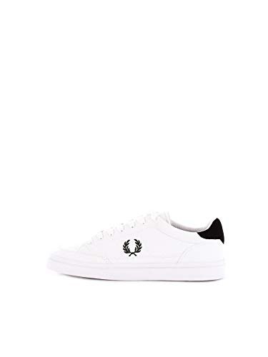 Fred Perry Deuce Canvas Tricot Sneaker Herren Weiss - 43 - Sneaker Low -