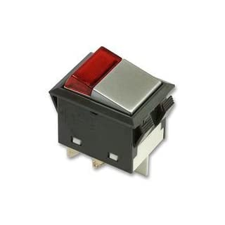 ROCKER SWITCH, DPST, ILLUM RED BPSCA H21CG1R2 - SW03157 By APEM